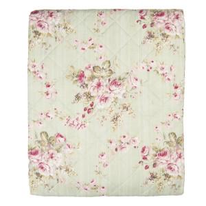 Cuvertura de pat din poliester matlasat decor Floral 260 cm x 240 cm
