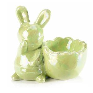 Suport ou ceramica verde sidef 8,5 cm x 5 cm x 8 h