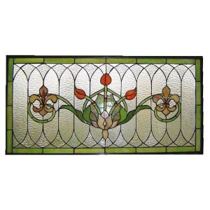 Vitraliu de perete din sticla Tiffany 82 cm x 41 h