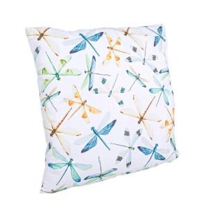 Perna decorativa din textil Libelula 45 cm x 45 cm