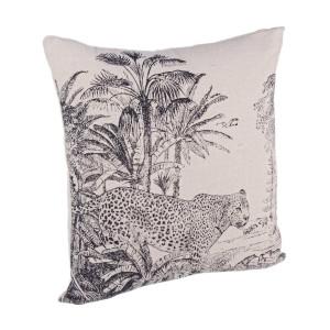 Perna decorativa din textil Leopard 45 cm x 45 cm