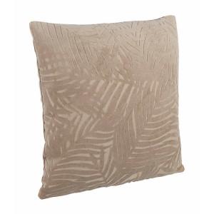 Perna decorativa din catifea bej Anitha 40 cm x 40 cm