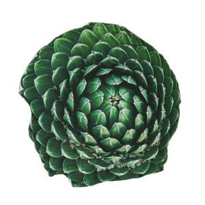 Perna decorativa din textil verde 3D 60 cm x 60 cm