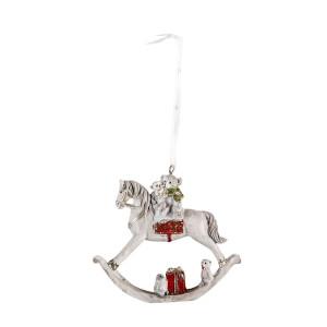 Ornament brad din polirasina model Calut 9 cm x 2 cm x 8 h