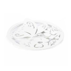 Suport pentru vase fierbinti din metal alb Ø 22 cm