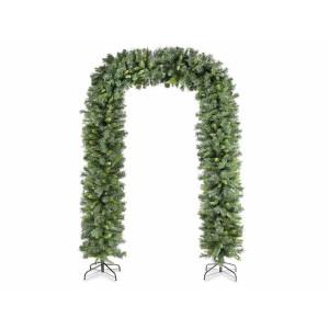 Ghirlanda artificiala de brad verde cu suport din fier 250 cm