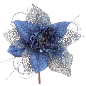 Craciunita artificiala albastra Ø 19x10 cm