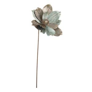 Floare artificiala Magnolia verde auriu Ø 22x50 cm