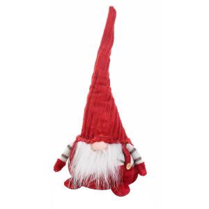 Figurina Spiridus rosu textil cm 18x14x35H