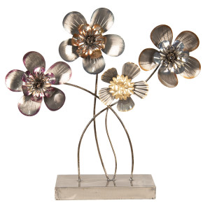 Decoratiune metal de masa model Flori 44 cm x 11 cm x 43 cm