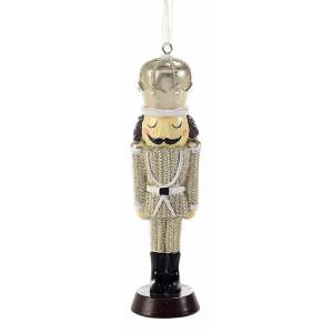 Ornament brad Spargatorul de Nuci din polirasina aurie 5x2x13 cm