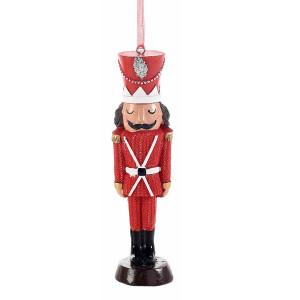 Ornament brad Spargatorul de Nuci din polirasina rosie 5x2x13 cm