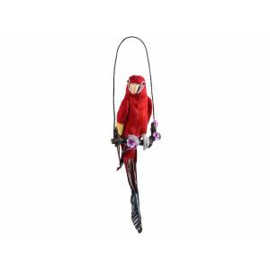 Figurina Papagal suspendabil rosu 22 cm x 66 h