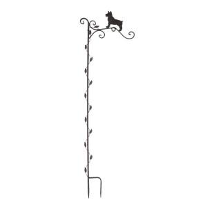 Decoratiune de gradina din metal negru 29 cm x 1 cm x 104 h