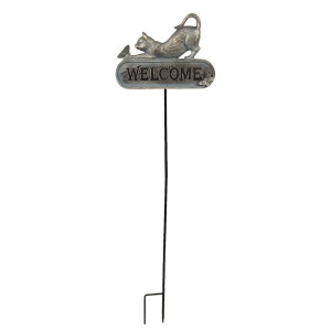 Decoratiune de gradina din metal aramiu 28 cm x 3 cm x 100 h