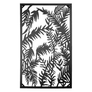 Decoratiune de perete din fier maro 55 cm x 3 cm x 92 cm