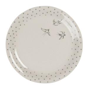 Farfurie din ceramica alb gri Ø 20 cm