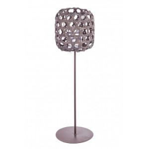 Felinar metal rattan gri Shade 18 cm x 57 h