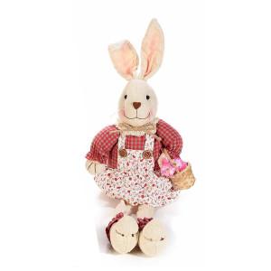 Figurina Iepuras Paste Girl textil cm 16 cm x 32H