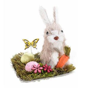 Figurina Iepuras Paste fibre naturale cm 11 x 9 cm x 12 H