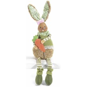 Figurina Iepuras Paste Girl textil fibre naturale cm 12 cm x 12 cm x 52 H