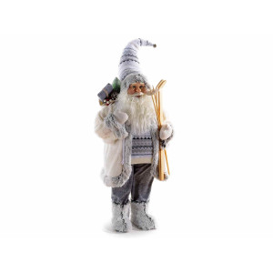 Figurina Mos Craciun crem cm 42x32x110H