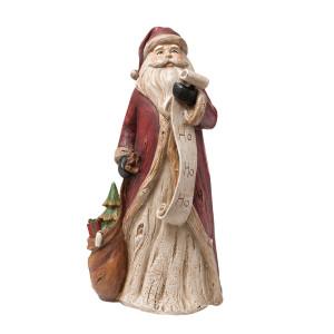 Figurina Mos Craciun polirasina 15x12x30 cm