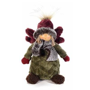 Figurina Inger Boy din portelan si textil 13x10x20 cm