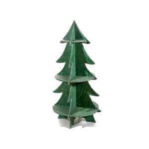 Brad expozor din lemn verde cu 3 polite Ø 55x108 cm