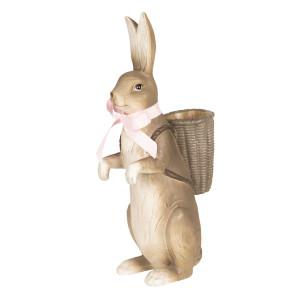 Figurina Iepuras Paste polirasina 17 cm x 11 cm x 36 cm