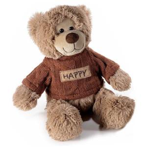 Figurina Ursulet din textil maro 18x14x30 cm