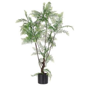 Planta artificiala exotica in ghiveci cu 75 frunze Fern 108 h