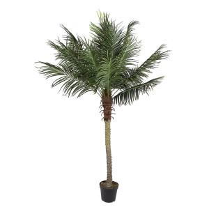 Palmier artificial Cycas cu 18 frunze in ghiveci 210 h