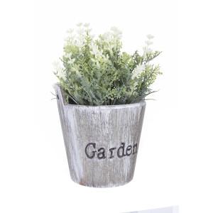 Flori artificiale albe in ghiveci Garden Ø 11 cm x 18 h