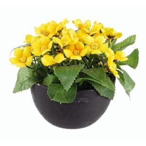 Flori artificiale galbene in ghiveci Ø8x16h