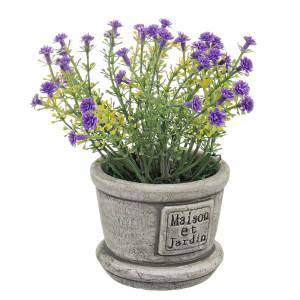 Flori artificiale mov in ghiveci ceramica Maison Ø8x15h