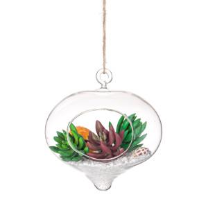 Aranjament suspendabil plante suculente artificiale Ø 16 cm x 16 h