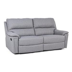 Canapea 2 locuri cu tapiterie stofa gri Olivia 199 cm x 95 cm x 100.5 h x 47.5 h1 x 62 h2