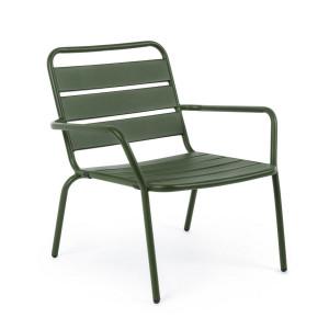 Scaun cu spatar din fier verde Marlyn 65 cm x 74 cm x 71  h x 36 h1 x 54 h2