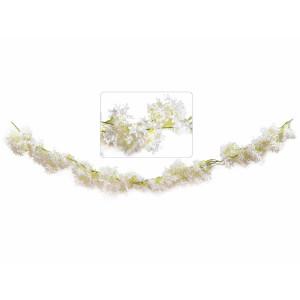 Ghirlanda flori artificiale albe 180 cm