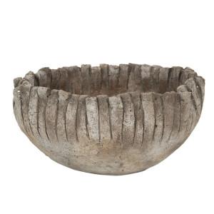 Ghiveci din ciment gri Ø 25 cm x 13 h