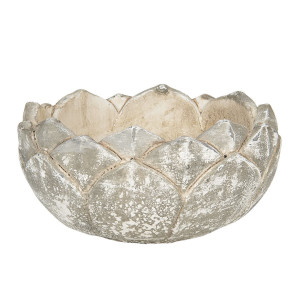 Ghiveci din ceramica gri Ø 18 cm x 10 h