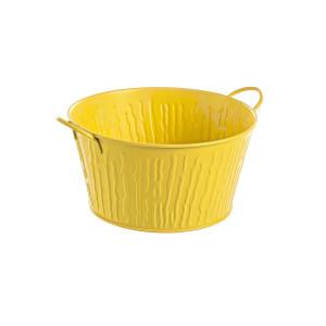 Ghiveci pentru flori metal galben Ø 20 cm x 11 h