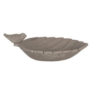 Bol hranire pasari din ceramica gri 31 cm x 21 cm x 11 h