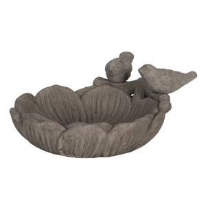 Bol hranire pasari din ceramica gri 24 cm x 23 cm x 11 h
