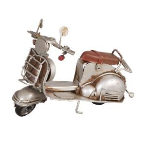 Macheta scuter Retro din metal argintiu vintage 11 cm x 5 cm x 8 h