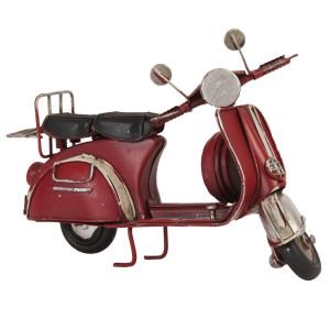 Macheta scuter Retro din metal rosu 17 cm x 8 cm x 10 h