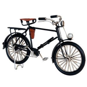 Macheta Bicicleta Retro din metal negru 21 cm x 7 cm x 13 h