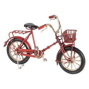 Macheta Bicicleta Retro din metal rosu 16 cm x 6 cm x 10 h