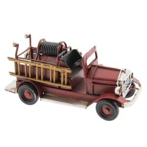 Macheta masina Pompieri Retro din metal rosu 12 cm x 4 cm x 5 h